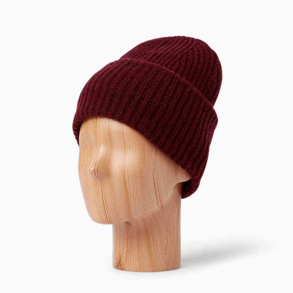 Roots-Clearance Women-Granville Toque-Crimson-B