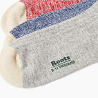 Roots-Kids New Arrivals-Kids Cotton Cabin Ankle Sock 3 Pack-Navy-D
