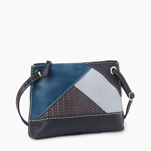 Roots-Women Crossbody-Edie Bag Patchwork-Jet Black-A
