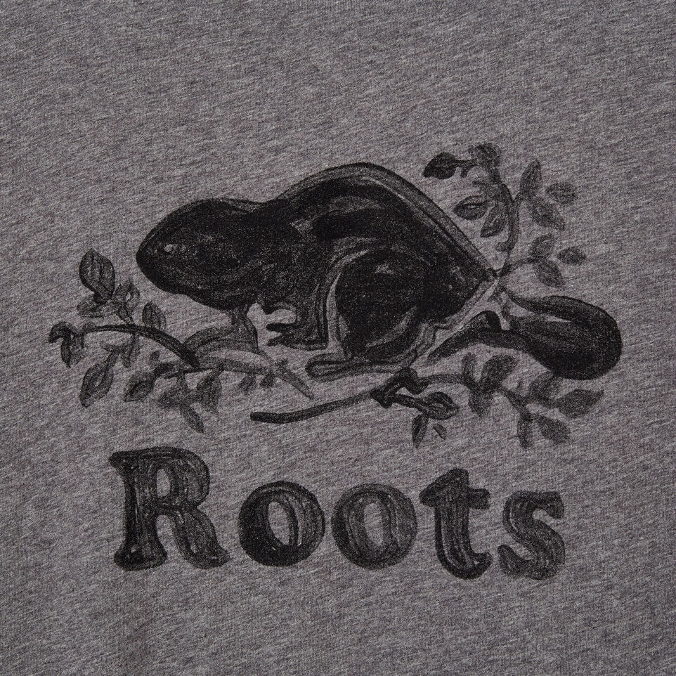 Roots-New For July Men-Mens Springdale T-shirt-Med Grey Mix-D