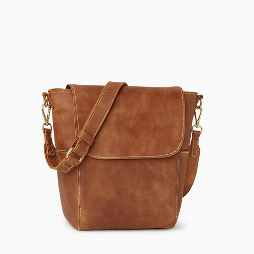 Roots-Leather  Handcrafted By Us Handbags-Small Journey Bag-Natural-A