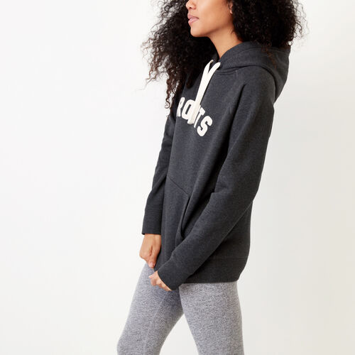 Roots-Winter Sale Women-Anniversary Hoody-Black Mix-A