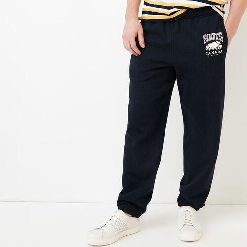 Roots-Men Bottoms-Classic Relaxed Sweatpant-Navy Blazer Mix-A