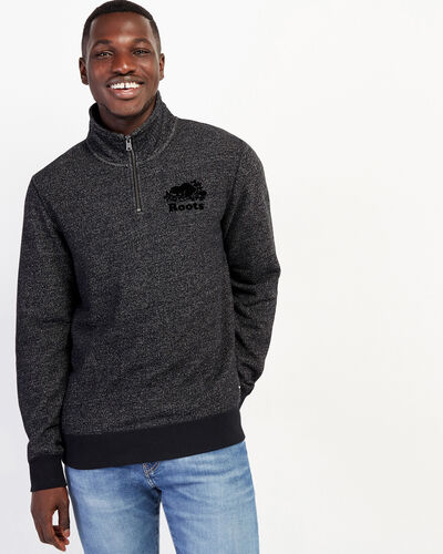 Roots-Men Sweatshirts & Hoodies-Original Zip Stein-Black Pepper-A