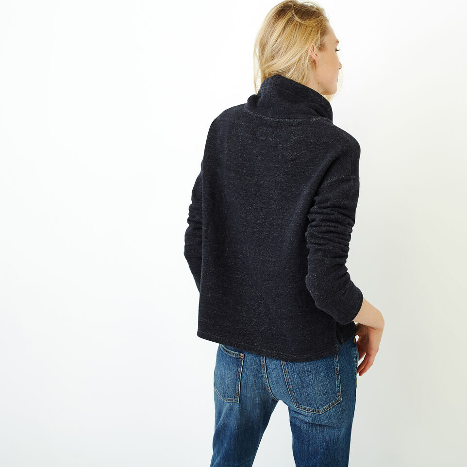 Roots-Women Categories-Cozy Fleece Mock Top-Black Pepper-D
