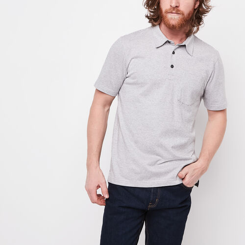 Roots-Men Tops-Striped Jersey Polo-Almond Milk-A