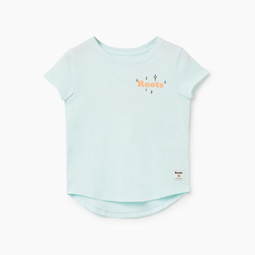 Roots-Sale Toddler-Toddler Roots Camp T-shirt-Bleached Aqua-A