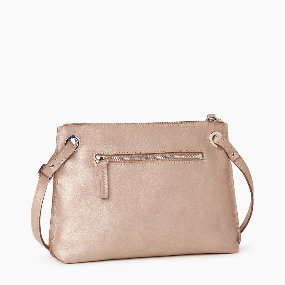 Roots-Leather  Handcrafted By Us Our Favourite New Arrivals-Edie Bag-Champagne-C