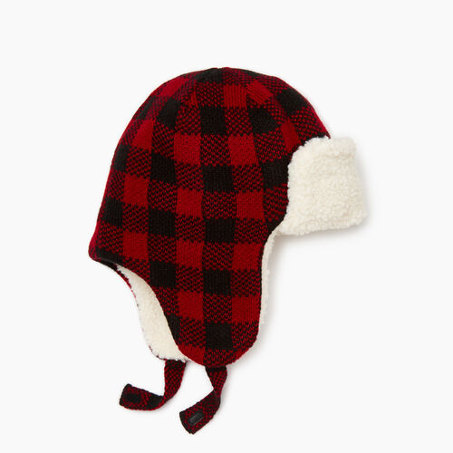 Roots-Kids Our Favourite New Arrivals-Kids Park Plaid Trapper Hat-Cabin Red-A