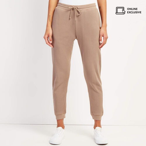 Roots-Women Pants-Kinuso Jogger-Fossil-A