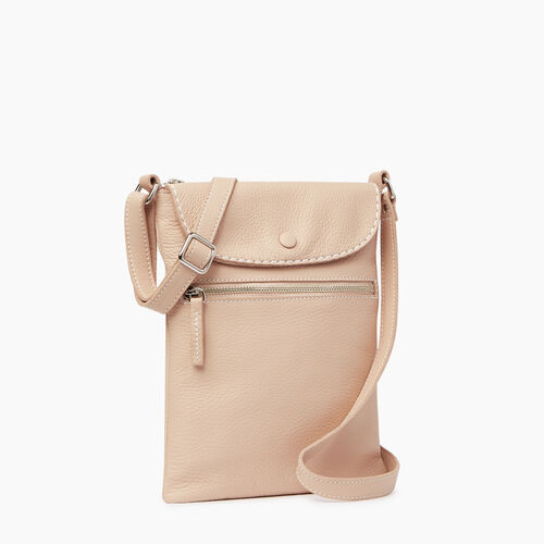 Roots-Leather  Handcrafted By Us Handbags-Riverdale Flat-Pink Mist-A