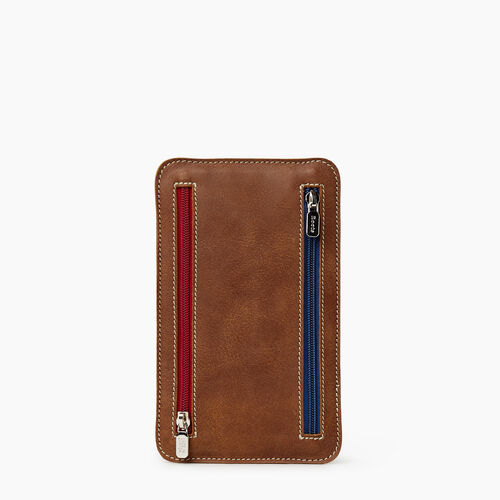 Roots-Leather Tech & Travel-Zip Travel Pouch Tribe-Natural-A