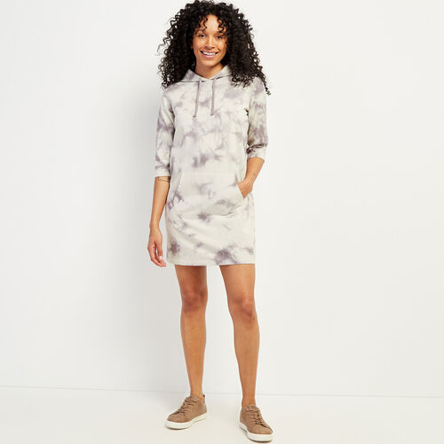 Roots-New For June Work From Home-Eramosa Hooded T-shirt Dress-Cloudburst Tie Dye-A