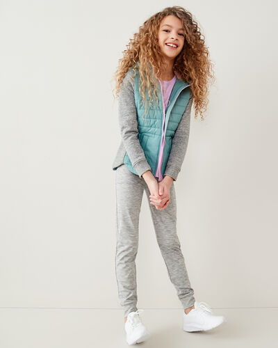 Roots-Kids Jackets-Girls Roots Hybrid Jacket-Arctic Sky-A