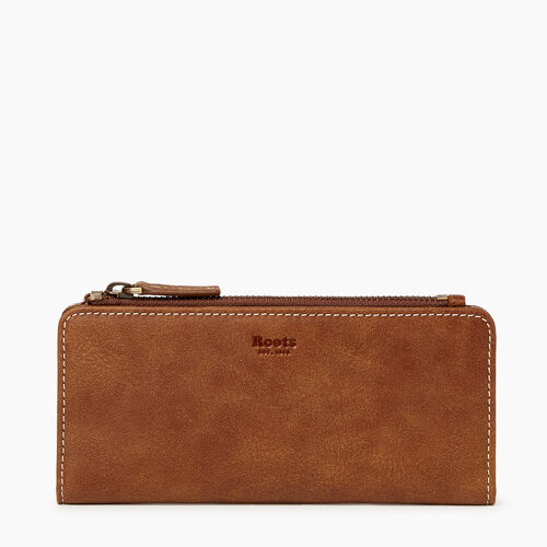 Roots-Women Categories-Slim Wallet-Natural-A