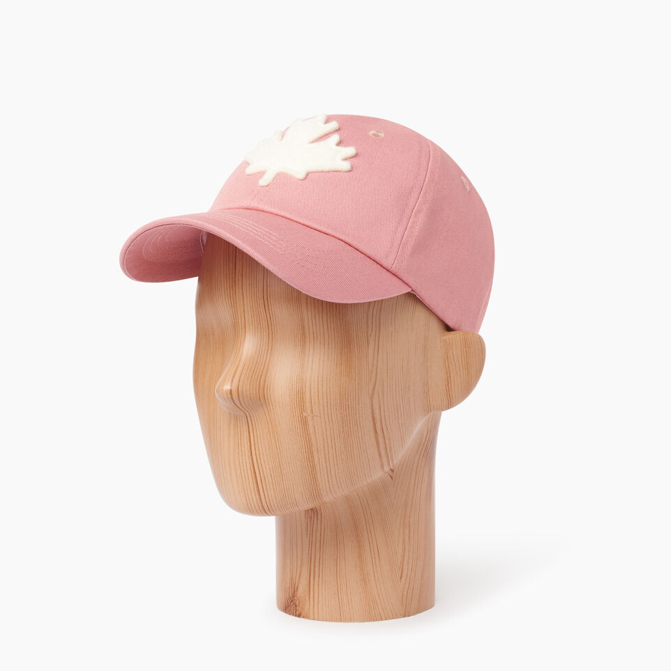 Roots-Clearance Kids-Toddler Canada Baseball Cap-Pink-B