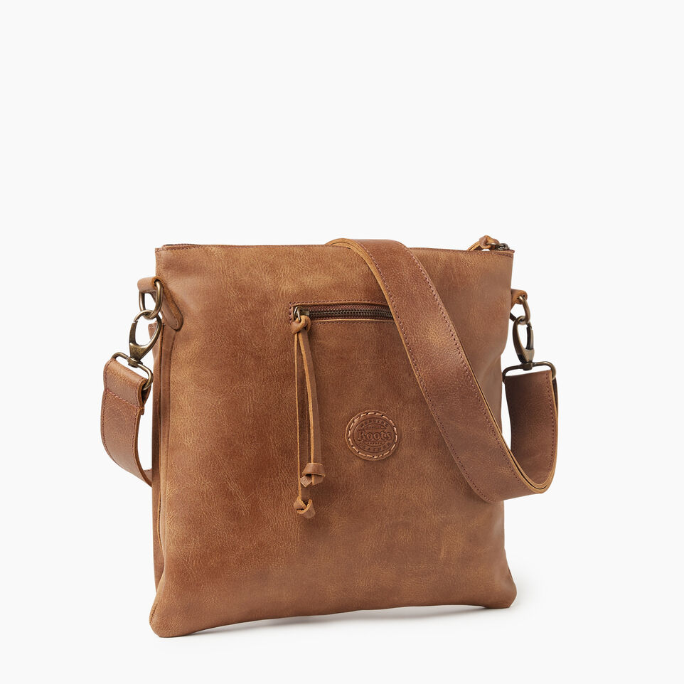 Roots-Leather New Arrivals-Cargo Bag Tribe-Natural-C