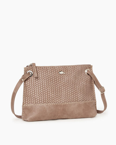 Roots-Leather Bestsellers-Edie Bag Woven-Fawn-A