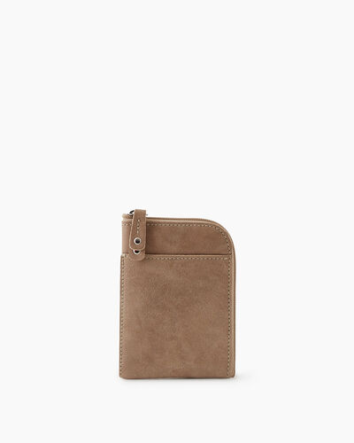 Roots-Leather New Arrivals-Passport Phone Pouch Tribe-Sand-A