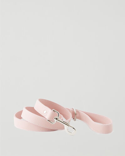 Roots-Leather Dog Accessories-Leather Dog Leash-Pink Pearl-A