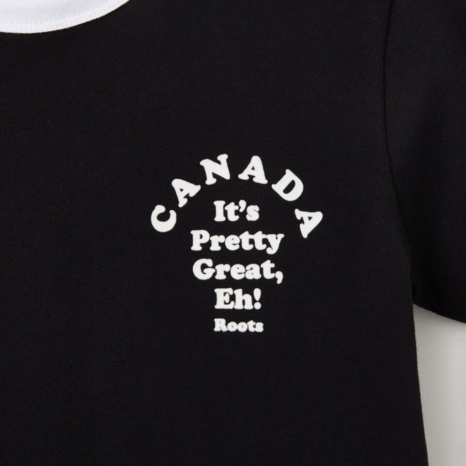 Roots-undefined-T-s Col Contrast Érable Canada-undefined-C
