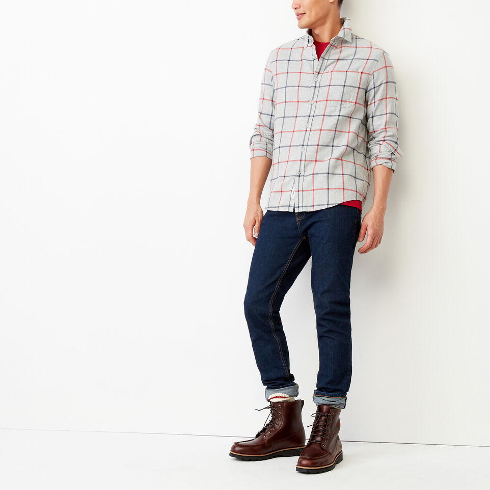 Roots-Men Our Favourite New Arrivals-Nordic Flannel Shirt-Med Grey Mix-B