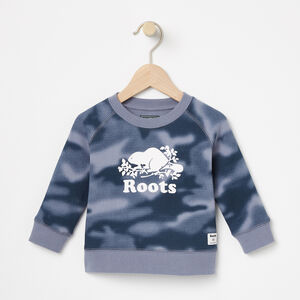 Roots-Kids Sweats-Baby Blurred Camo Crew-Flint Stone-A
