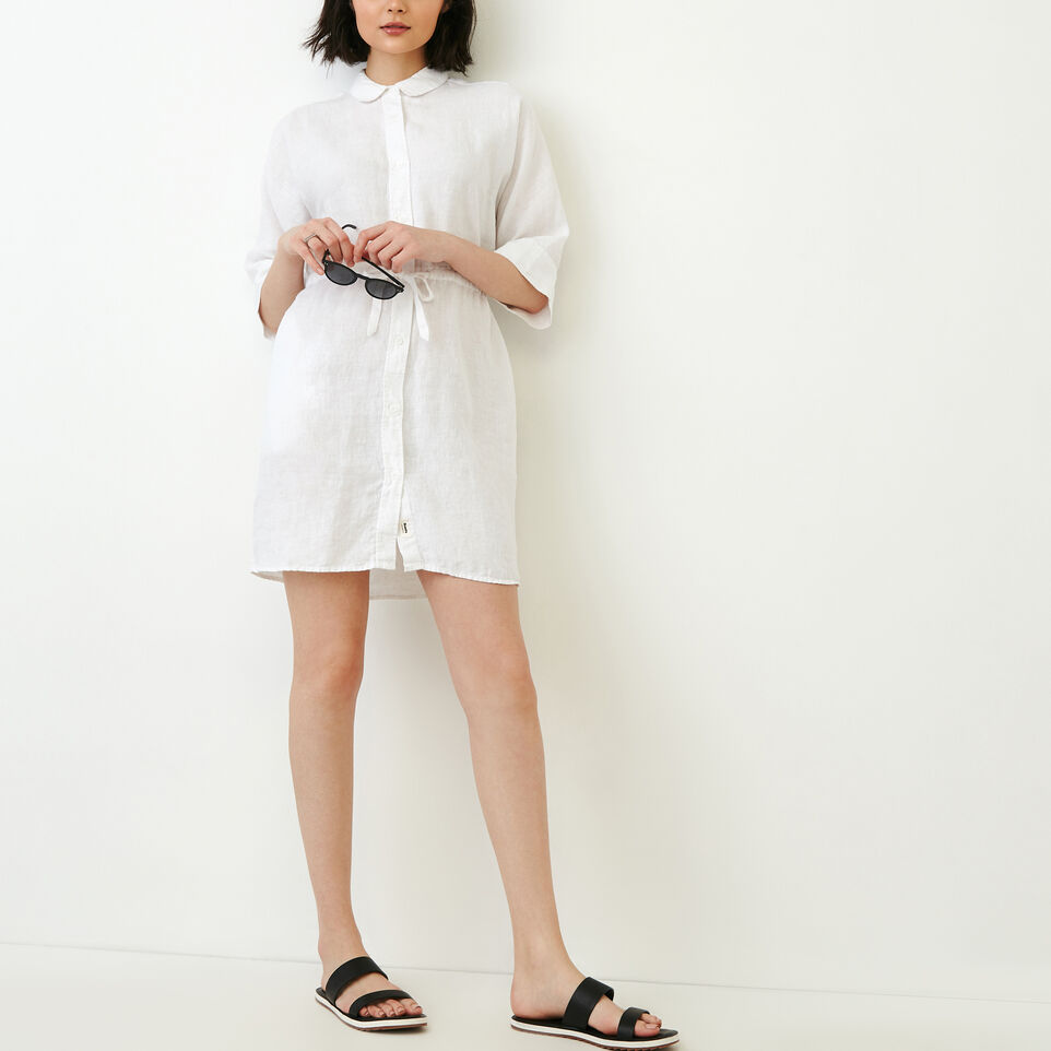 Roots-Women Our Favourite New Arrivals-Weymouth Dress-White-B