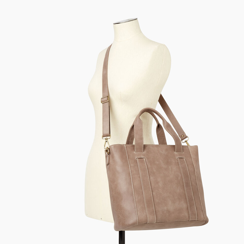 Roots-Leather  Handcrafted By Us Our Favourite New Arrivals-Victoria Tote-Fawn-B