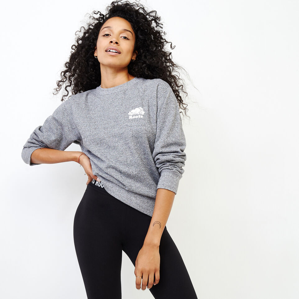 Roots-Women Our Favourite New Arrivals-Original Boyfriend Crew Sweatshirt-Salt & Pepper-A
