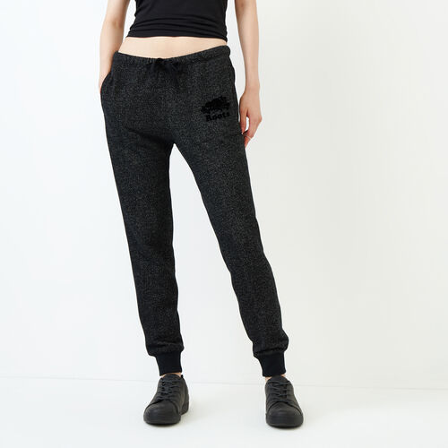 Roots-Women Categories-Slim Cuff Sweatpant - Tall-Black Pepper-A