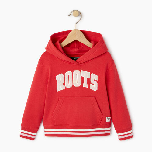 Roots-Kids Toddler Girls-Toddler Roots Varsity Kanga Hoody-Chrysanthemum-A