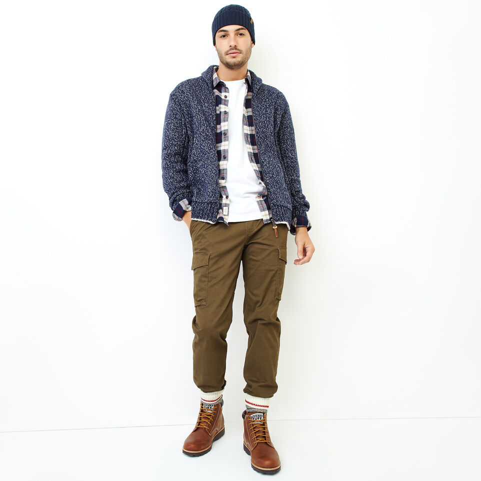 Roots-Men Our Favourite New Arrivals-Snowy Fox Zip Cardigan-Navy Fox-B