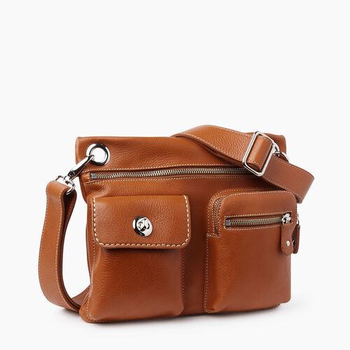 Roots-Women Crossbody-Village Bag Prince-Tan-A