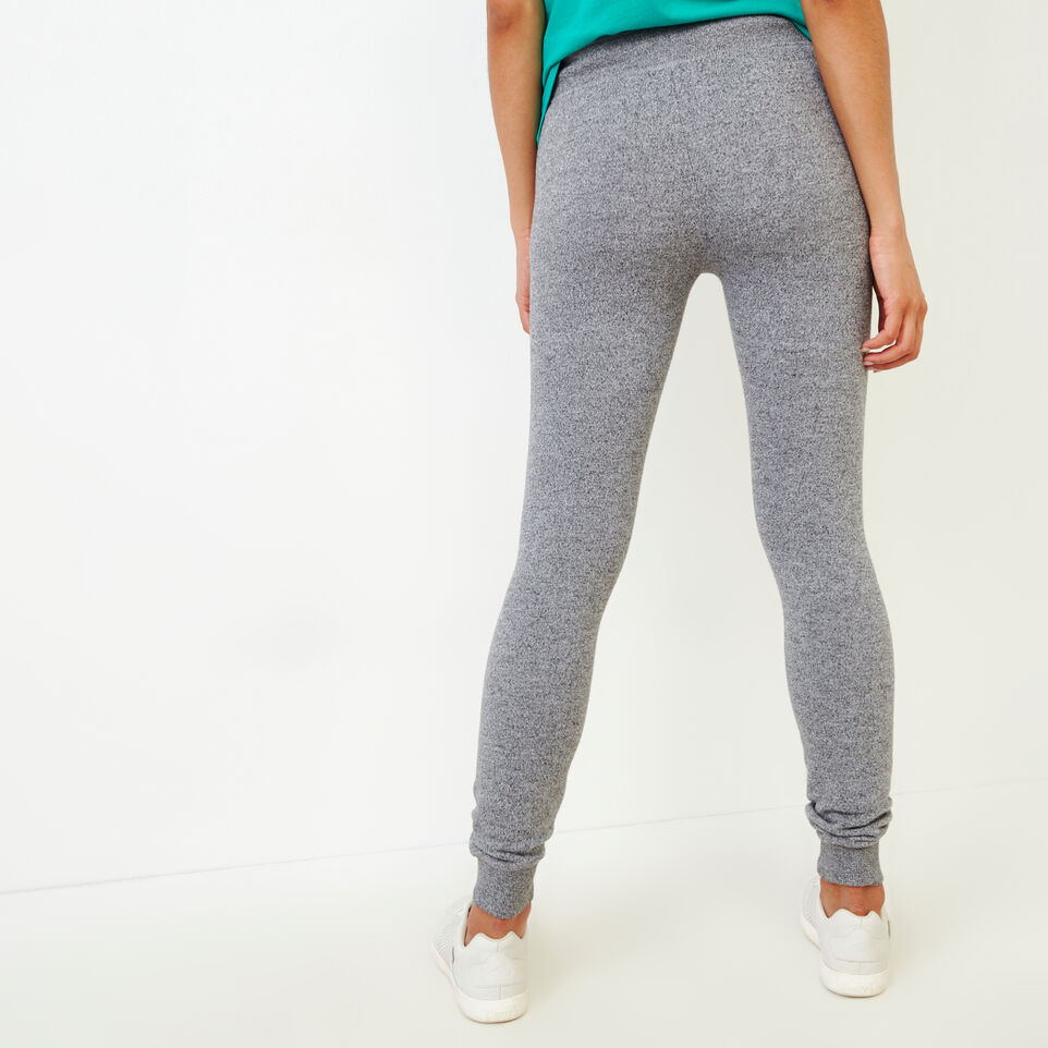 Roots-Women Categories-Cozy Fleece Skinny Sweatpant-Salt & Pepper-D