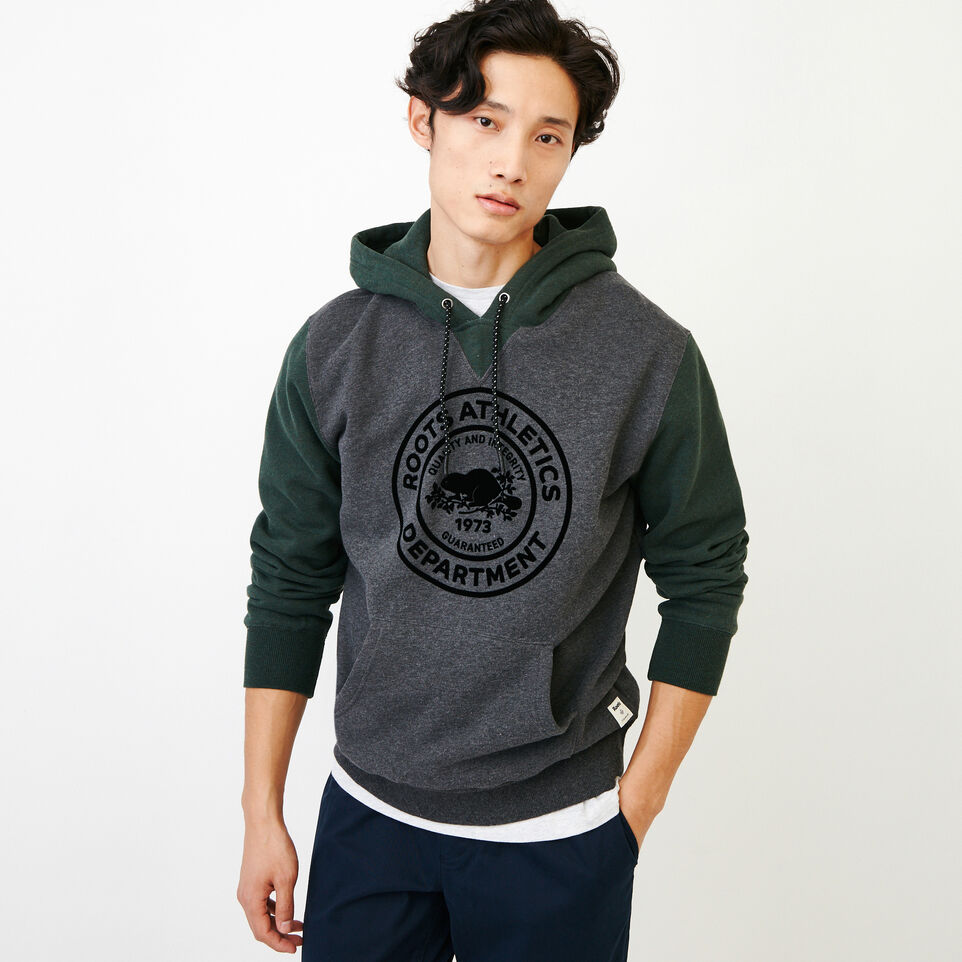 Roots-Men Our Favourite New Arrivals-Athletic Dept. Hoody-Charcoal Mix-A