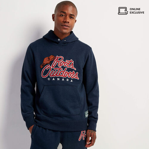 Roots-Sweats Men-Roots Outdoors Hoody-Navy Blazer Pepper-A