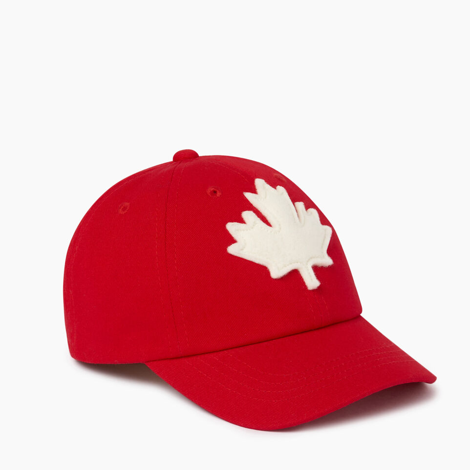 Roots-Clearance Kids-Toddler Canada Baseball Cap-Red-A