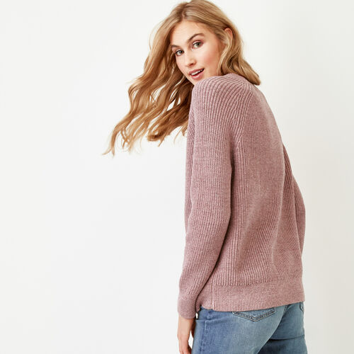 Roots-Women Sweaters & Cardigans-Yukon Crew Sweater-Dark Lilas Mix-A