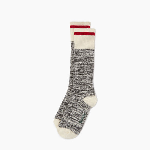 Roots-Women Socks-Womens Cotton Cabin Sock 2 pack-Salt & Pepper-A