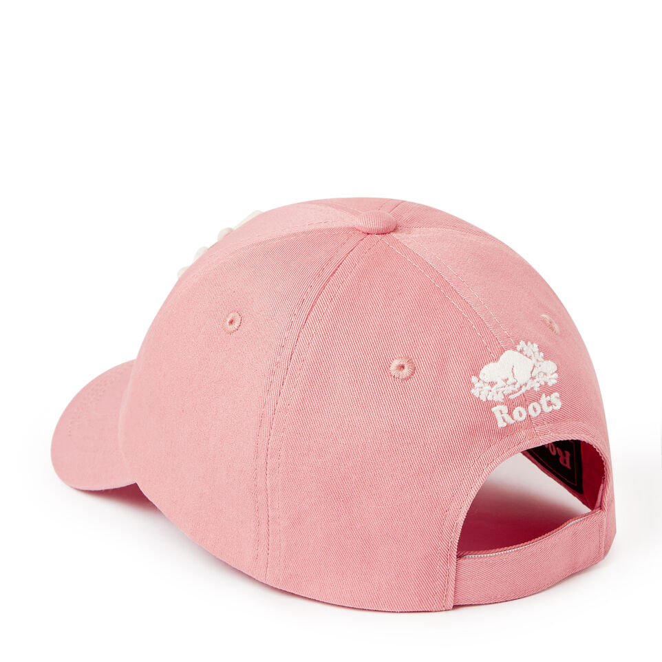 Roots-Kids Our Favourite New Arrivals-Kids Canada Baseball Cap-Pink-C