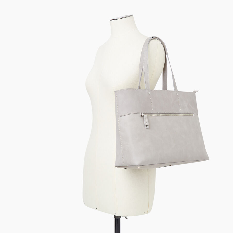 Roots-Leather New Arrivals-Westmount Tote Tribe-Sterling Grey-B