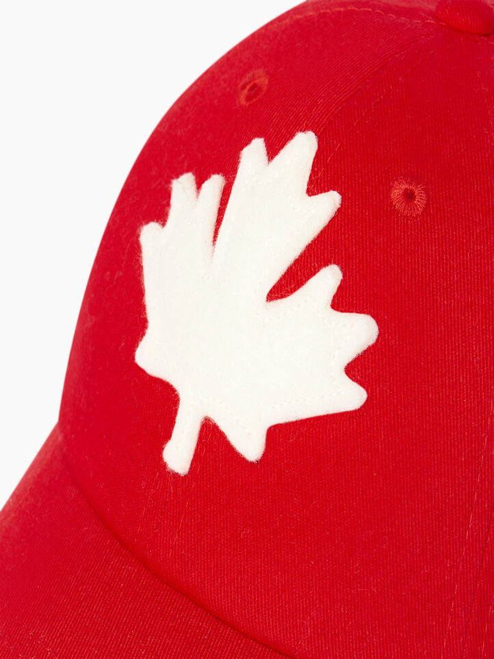 Roots-Clearance Kids-Toddler Canada Baseball Cap-Red-D