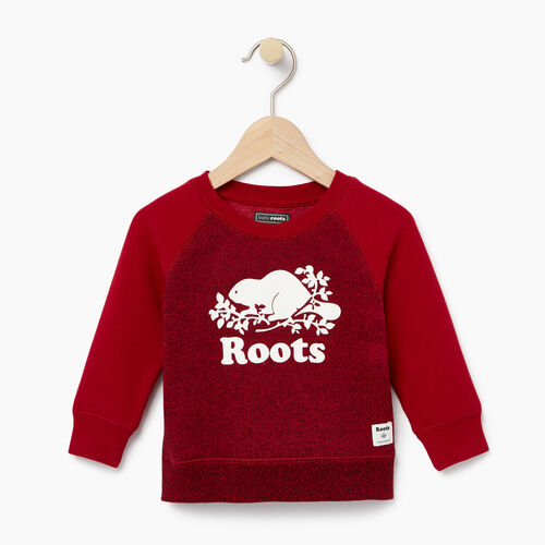 Roots-Clearance Baby-Baby Original Crewneck Sweatshirt-Cabin Red Pepper-A