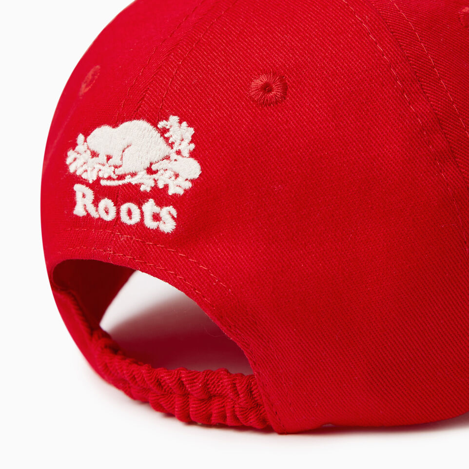 Roots-Clearance Kids-Toddler Canada Baseball Cap-Red-E