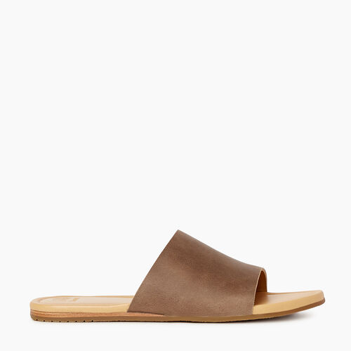 Roots-Footwear Categories-Womens Bridlewood Slide Sandal-Fawn-A