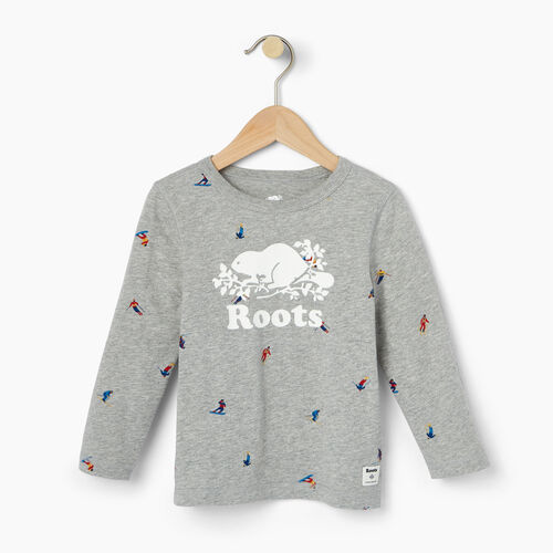 Roots-Kids Our Favourite New Arrivals-Toddler Skier AOP T-shirt-Grey Mix-A