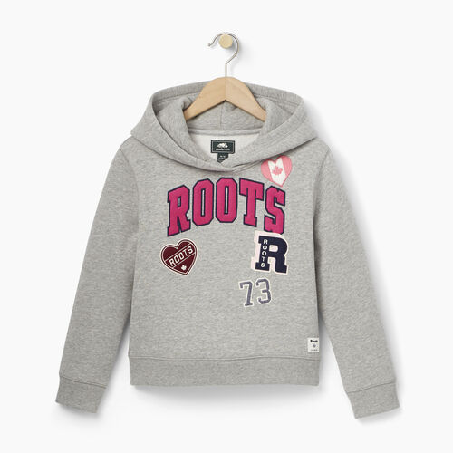 Roots-Kids Our Favourite New Arrivals-Girls Roots Patches Hoody-Grey Mix-A