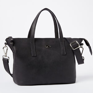 Roots-Leather Tribe Leather-Small Zoe Bag Tribe-Jet Black-A
