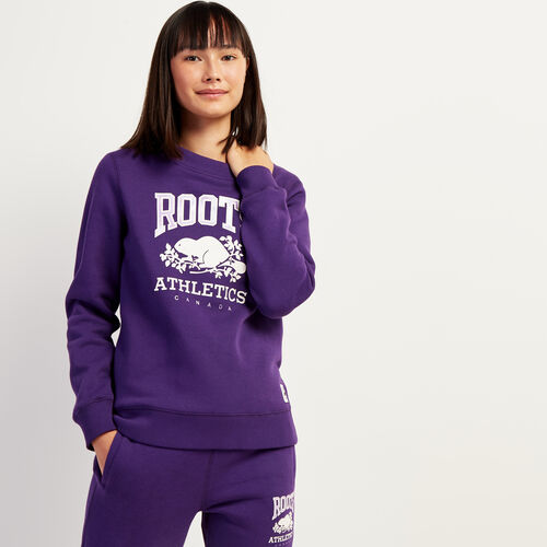 Roots-Gifts Holiday X Arielle & Leah-RBA Crew Sweatshirt-Acai-A